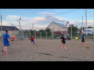 2021, Пляжный волейбол. Чемпионат района. Миньоны-Мерси