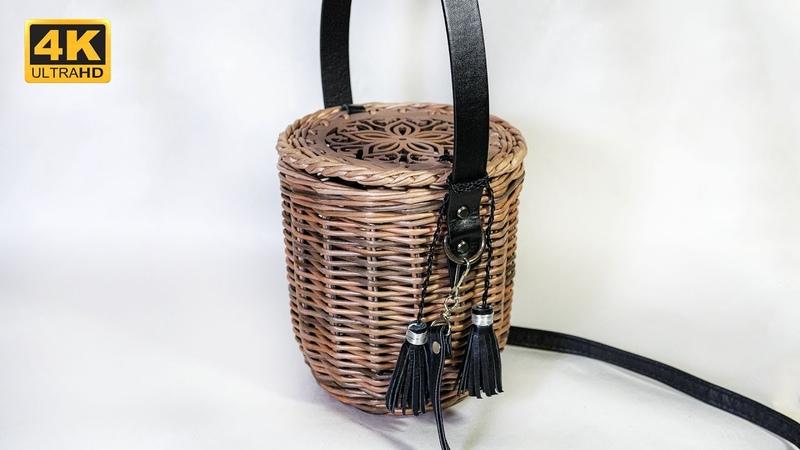 Плетеная сумка в стиле Джейн Биркин