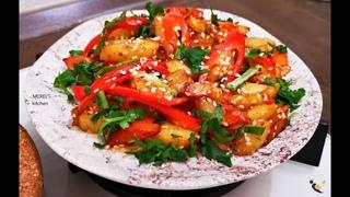 """ОЧЕНЬ вкусная ЖАРЕНАЯ картошка """"ПО-КОРЕЙСКИ"""", лучший рецепт из картошки, который я знаю!"""