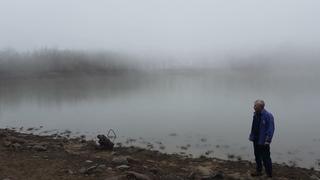 Озеро Горное (Кастель) / туман и дождь / Крым весной