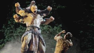 "Mortal Kombat / Cole Young vs Goro Fight Scene (""Badass Suit, Dad"") | Movie CLIP 4K"