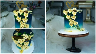 Decorate beautiful Cake With buttercream floral Orchids | Bánh Kem Bơ Trang Trí Hoa Lan Tuyệt Đẹp