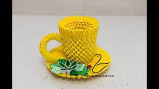 Filiżanka z origami / 3d origami tea cup