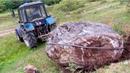 Вытащили Большой камень с Трактором Беларусь 1221