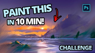 Paint This Landscape in 10 Minutes!