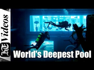 We went diving in the world's deepest pool