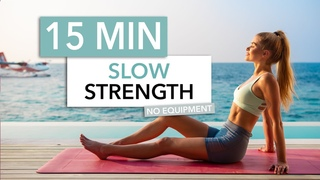15 MIN SLOW STRENGTH, Full Body - on the floor, no standing up, low impact I Pamela Reif