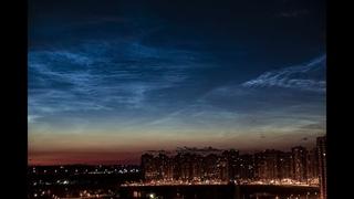 Серебристые облака Санкт-Петербург, метро Парнас.
