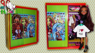 Как сделать ШКАФ - КУПЕ и ПЛЕЧИКИ ДЛЯ ОДЕЖДЫ для кукол Monster High, Barbie / Muza Rukodeliya 🌺