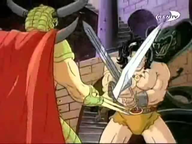 Приключения Конана варвара Conan the Adventurer Заставка Intro