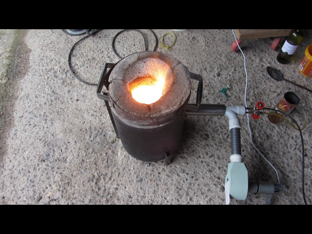 Metal Casting at Home Part 47 Oil Burning Furnace