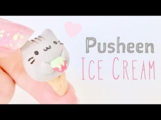 DIY Pusheen Ice Cream Polymer Clay Tutorial