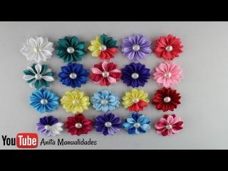 Flor Margarita mediana Paso a Paso | Anita Manualidades
