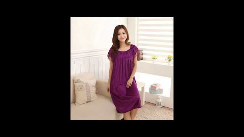 Ladies Sexy Silk Satin Night Dress Sleeveless Nighties V neck Plus Size Nightdress For Women
