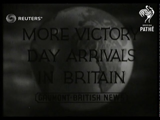 Troops from Bermuda land in Britain for Victory Day parade (1946)