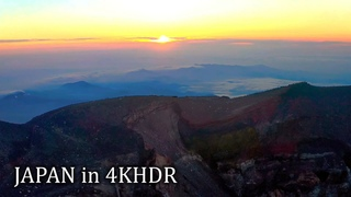 Fuji sunrise - Flying and walking by the top of mt. Fuji・4K HDR