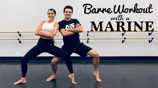 BARRE with a MARINE | Full body workout | No equipment | Low impact