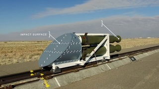 Rocket Sled Impact Test In Slow-Motion