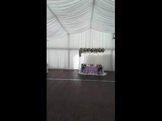 свадебное оформление в шатре, отель Николаевский.