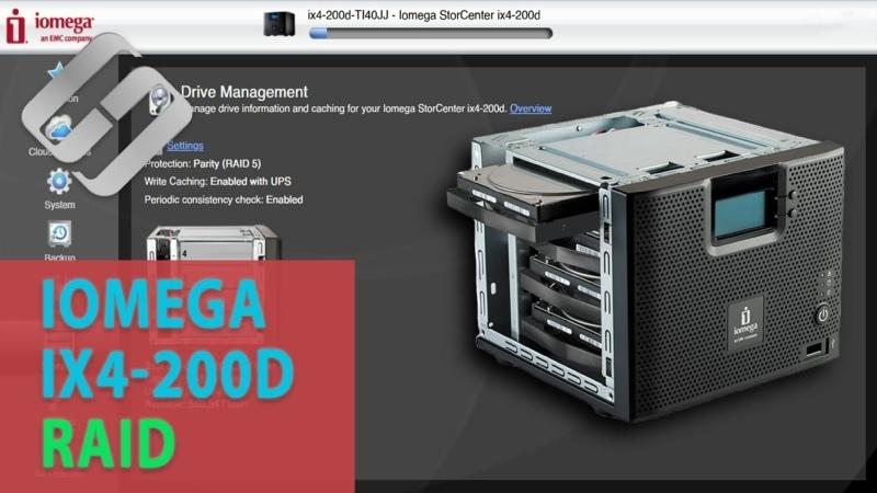 Как восстановить данные с RAID массива нерабочего NAS устройства Iomega IX4 200D
