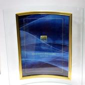 Стеклянная фоторамка 15х20 вертикальная, вогнутая