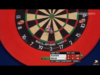 Jelle Klaasen vs Brendan Dolan (PDC World Darts Championship 2017 / Round 2)