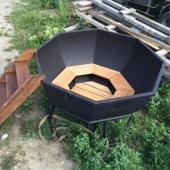 Банный чан 2025*1000*3 мм, железный с покрытием
