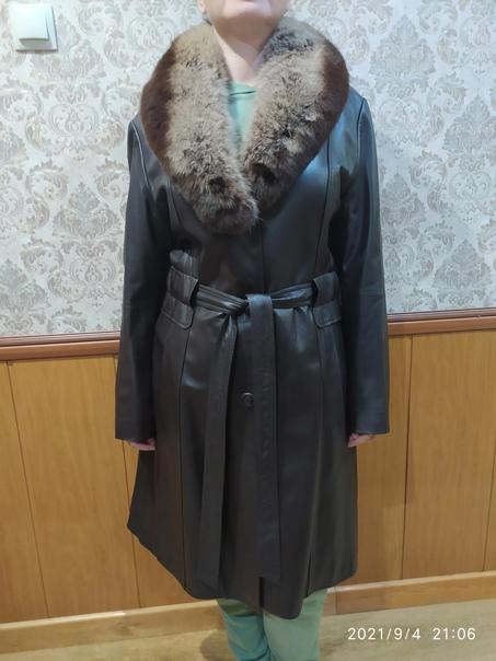 Пальто из мягкой, тонкой кожи. Новое. Размер 50-52...