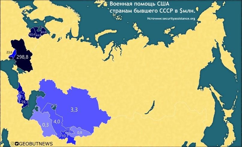 Какие страны бывшего СССР получают военную помощь от США?, изображение №1