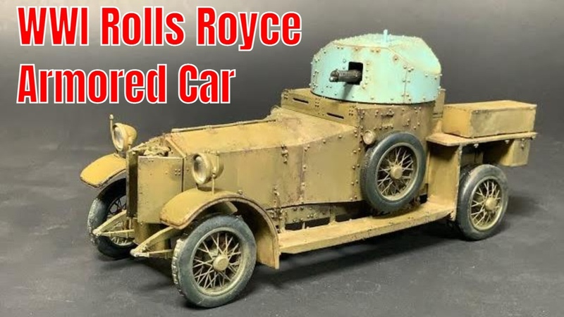 1 35 Rolls Royce WWI armored car by Meng Models complete build video