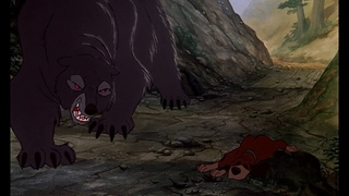 The Fox and the Hound - Bear Attacks / Tod Saves Copper