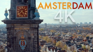 Amsterdam 4K Drone Footage   Ultra HD Bird's Eye View Cinematic Ambient Film   Flying Over Holland
