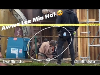 FAN CAM: Extra behind the scenes of #Pachinko –  Lee Min Ho (이민호) as Koh Hansu 📍Vancouver, Canada